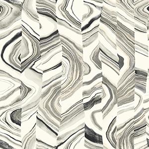 Agate Stripe Black Wallpaper