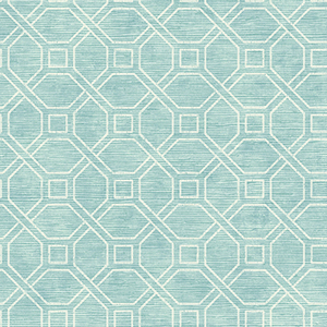 Coastal Trellis Aqua Wallpaper