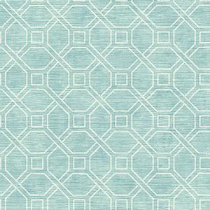 Coastal Trellis Aqua Wallpaper