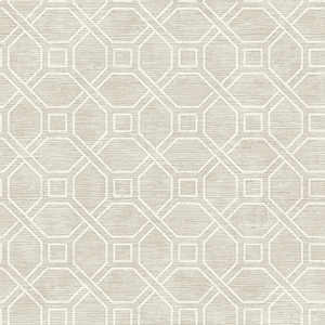 Coastal Trellis Gray Wallpaper