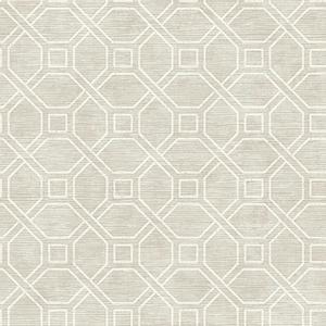 Coastal Trellis Gray Wallpaper