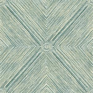 Dimensional Diamond Teal Wallpaper