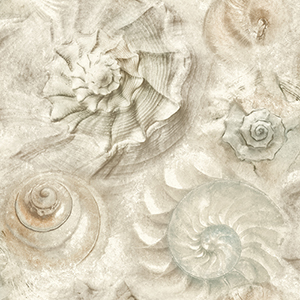 Opulent Shell Stone Wallpaper