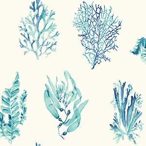 Seaweed White Wallpaper