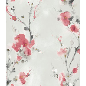 Candice Olson Breathless Charm Red and Pink Wallpaper
