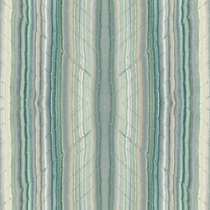 Candice Olson Breathless Festival Blue, Green and Off White Wallpaper
