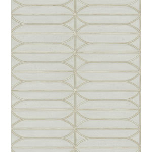 Candice Olson Breathless Pavilion Taupe, Off White and Black Wallpaper
