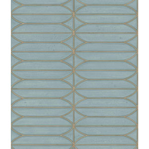 Candice Olson Breathless Pavilion Blue and Off White Wallpaper