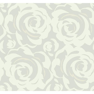 Candice Olson Breathless Lavish White on Pearl Wallpaper