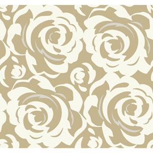 Candice Olson Breathless Lavish White on Gold Wallpaper
