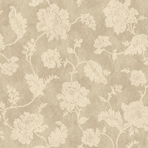 Jacobean Trail Gold and Cream Wallpaper