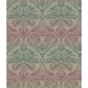 Teal and Magenta Linear Damask Wallpaper