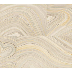 Candice Olson Modern Nature Grey and Amber Onyx Wallpaper
