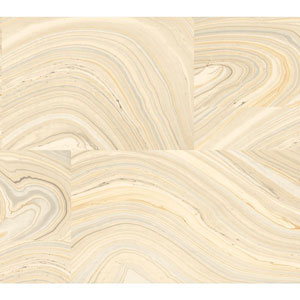 Candice Olson Modern Nature Beige and Grey Onyx Wallpaper