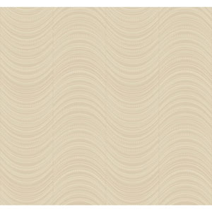 Candice Olson Modern Nature Taupe and Silver Meander Wallpaper