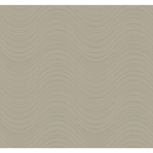 Candice Olson Modern Nature Silver and Grey Meander Wallpaper