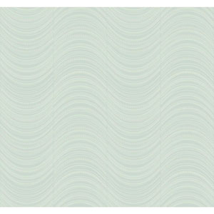Candice Olson Modern Nature Blue and Silver Meander Wallpaper