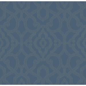 Candice Olson Modern Nature Blue and Taupe Allure Wallpaper