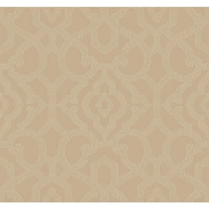 Candice Olson Modern Nature Taupe and Cream Allure Wallpaper