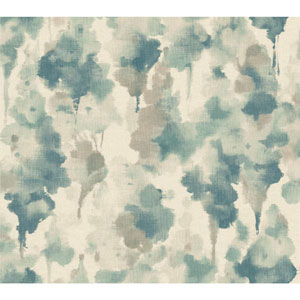 Candice Olson Modern Nature off White and Dark Blue Mirage Wallpaper