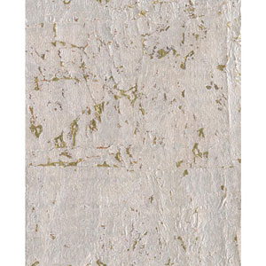 Candice Olson Modern Nature Silvery Grey and Metallic Gold Cork Wallpaper