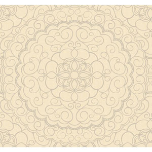 Candice Olson Modern Nature Pale Gold and Silver Glitter Karma Wallpaper