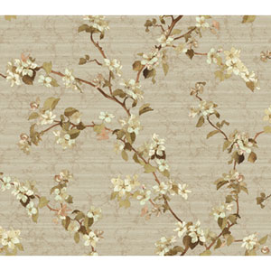Georgetown Iridescent Apple Blossom Wallpaper