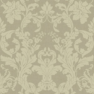 Georgetown Iridescent Acanthus Damask Wallpaper