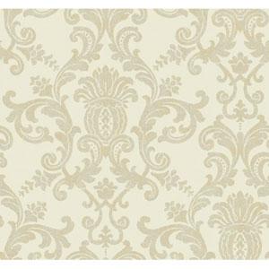 Georgetown Iridescent Silk Damask Wallpaper