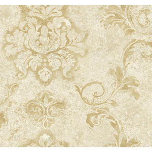 Ronald Redding Designer Damask Cream and Gold Andalucia Wallpaper