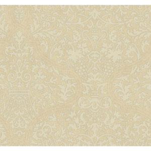 Ronald Redding Designer Damask Beige and Cream Granville Wallpaper