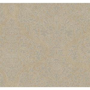 Ronald Redding Designer Damask Beige and Grey Granville Wallpaper