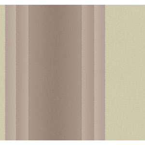 Ronald Redding Designer Damask Metallic Gold and Metallic Lilac Cinnabar Stripe Wallpaper