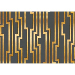 Candice Olson Shimmering Details Black and Gold Velocity Wallpaper