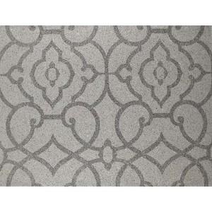 Candice Olson Shimmering Details Dark Metallic Grillwork Mica Wallpaper