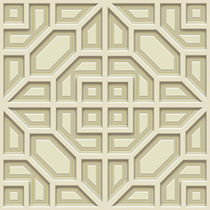 Dimensional Artistry Beige Asian Lattice Wallpaper