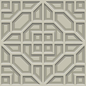 Dimensional Artistry Taupe Asian Lattice Wallpaper