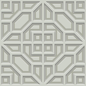 Dimensional Artistry Grey Asian Lattice Wallpaper