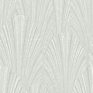 Dimensional Artistry Grey Fountain Scallop Wallpaper