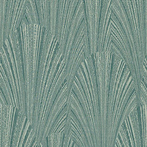 Dimensional Artistry Green Fountain Scallop Wallpaper