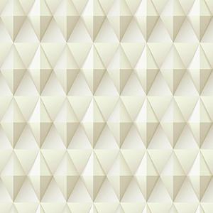 Dimensional Artistry Tan Paragon Geometric Wallpaper