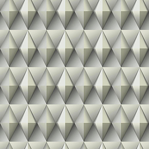 Dimensional Artistry Grey Paragon Geometric Wallpaper