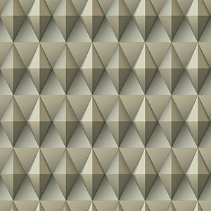 Dimensional Artistry Beige Paragon Geometric Wallpaper