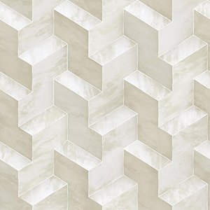 Dimensional Artistry Beige Step To It Wallpaper