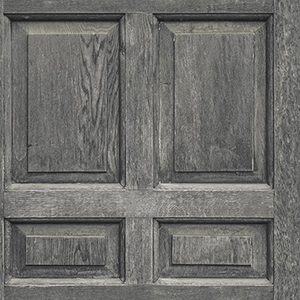 Dimensional Artistry Black Front Door Wallpaper