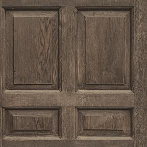 Dimensional Artistry Dark Brown Front Door Wallpaper