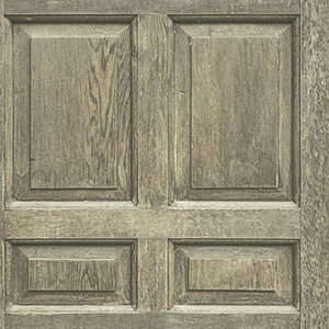 Dimensional Artistry Brown Front Door Wallpaper