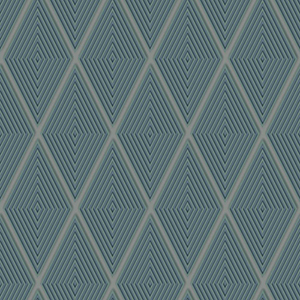 Dimensional Artistry Green Conduit Diamond Wallpaper