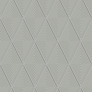 Dimensional Artistry Grey Conduit Diamond Wallpaper