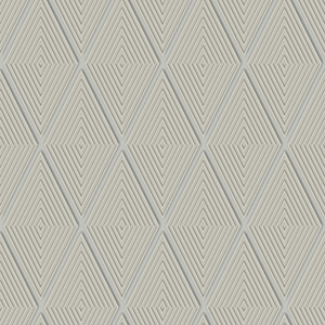 Dimensional Artistry Taupe Conduit Diamond Wallpaper
